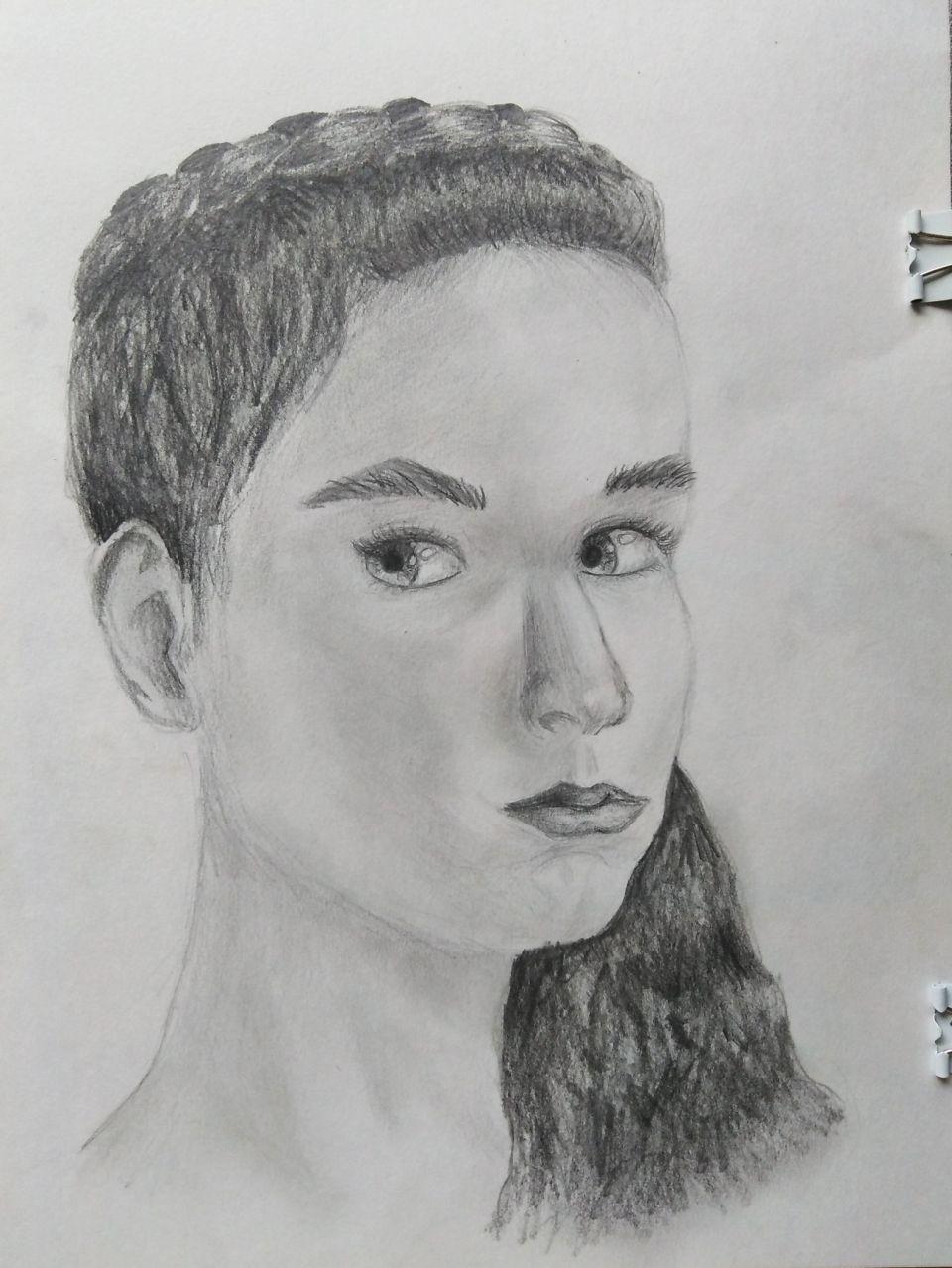 """Маркова Арина<br />""""Автопортрет"""", бум./кар."""